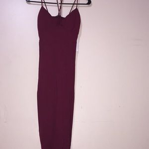 Dresses & Skirts - Burgundy multi strap dress